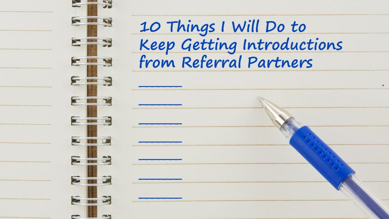 Here's your referral partner checklist