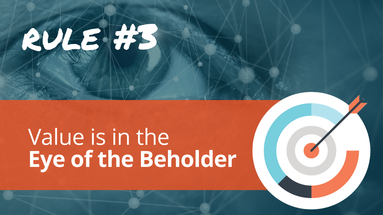 Radical Relevance Rule #3: Value is in the eye of the beholder.