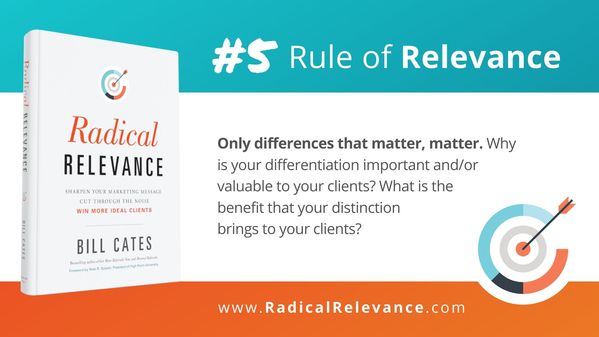 Rules of Relevance #5: Only differences that matter, matter.