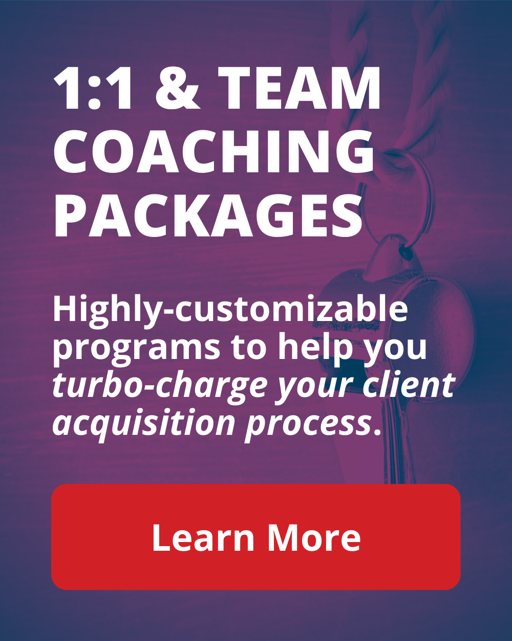 1:1 and Team Coaching Packages
